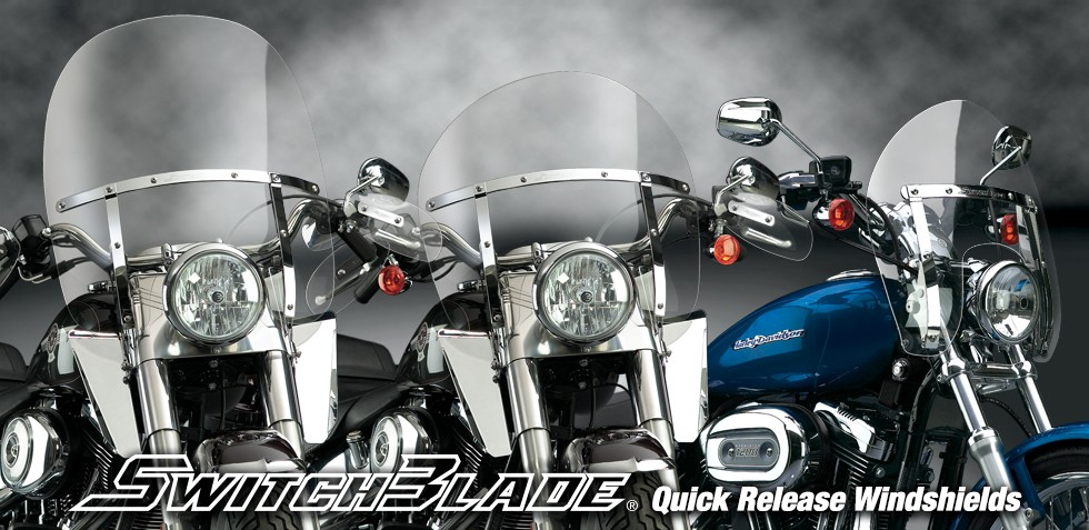 Switchblade Quick Release Windshields For Harley Davidson And Indian