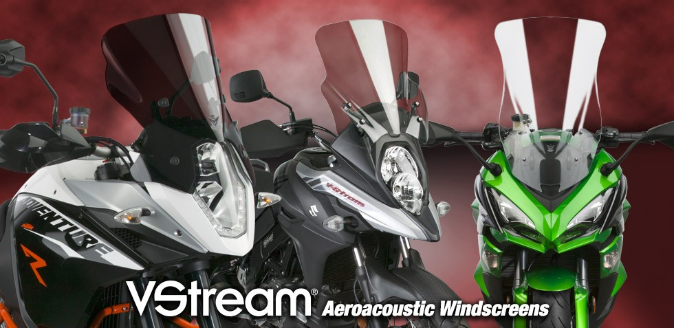 VStream® Windscreens for Metric Motorcycles