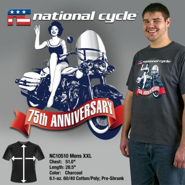 75th Anniversary T-Shirt; Mens XXL