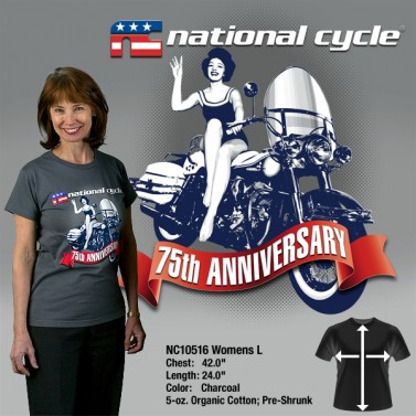 75th Anniversary T-Shirt; Womens L