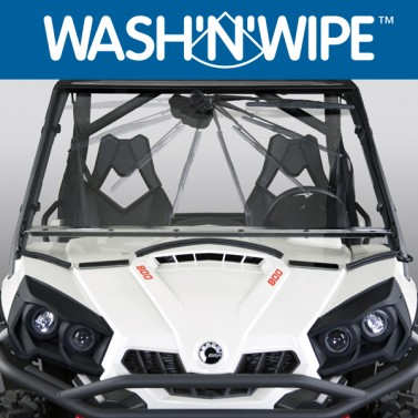 National Cycle Full-Size Wash'n'Wipe™ Windshield for UTVs