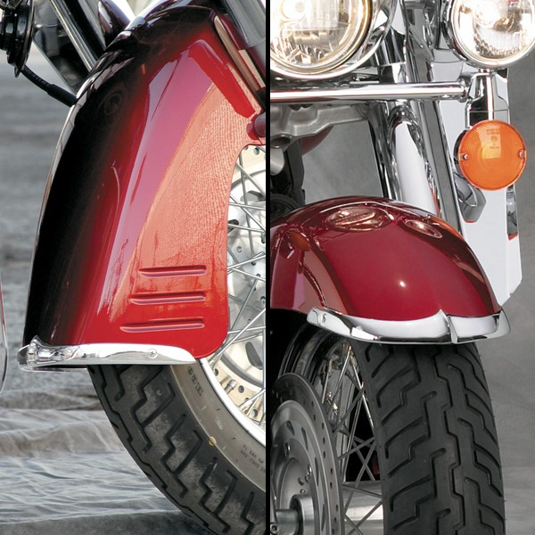Cast Front Fender Tips; 2-Piece Set for Honda® VTX