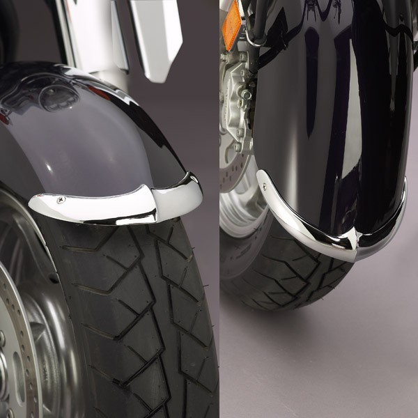 Cast Front Fender Tips; 2-Piece Set for Kawasaki® VN2000