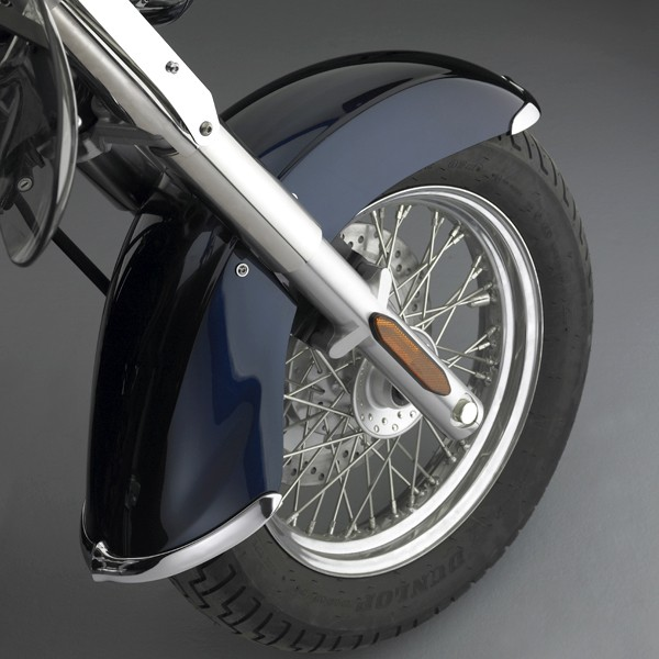 Cast Front Fender Tips; 2-Piece Set for Kawasaki® VN900B Vulcan