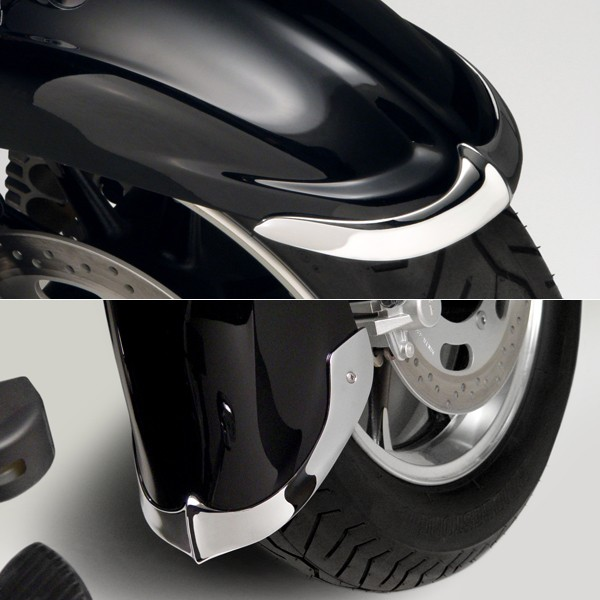 Cast Front Fender Tips; 2-Piece Set for Kawasaki® VN1700 Vulcan