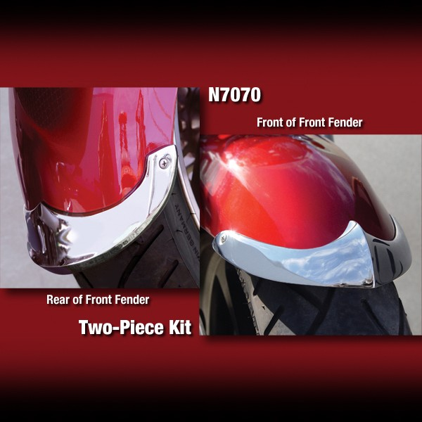 Cast Front Fender Tips; 2-Piece Set for Triumph® Rocket III