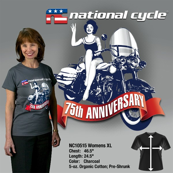 75th Anniversary T-Shirt; Womens XL