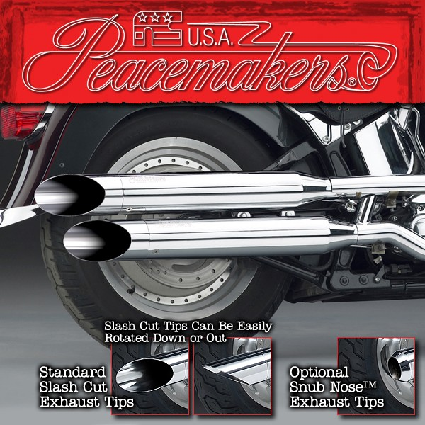 Peacemakers® Volume Control Exhaust Systems for 2007-Later FXSTD/FLSTF/FLSTFB Models