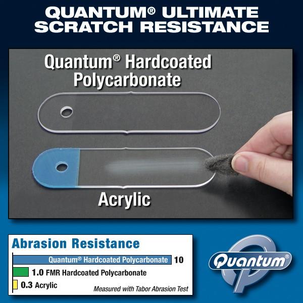 Exclusive Quantum® Scratch Resistance