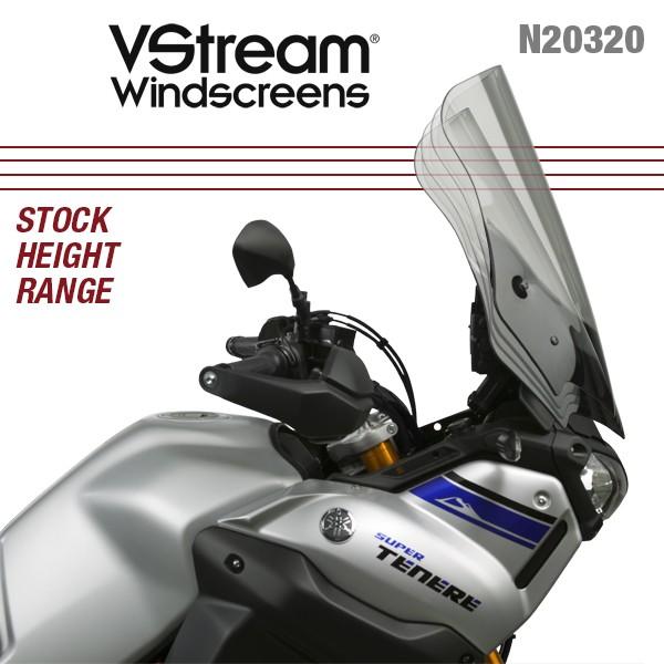 "NATIONAL CYCLE VSTREAM WINDSHIELD LIGHT TINT 21.75/""  XT1200 14-18"
