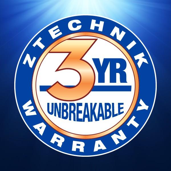 Exclusive 3-Year Warranty