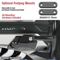 Optional Footpeg Mounting Brackets for Comfort Bars