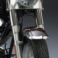 Cast Front Fender Tips; 2-Piece Set for Harley-Davidson® FLSTF Models