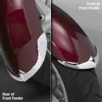Cast Front Fender Tips; 2-Piece Set for Honda® VT1300CR Stateline