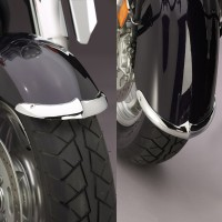 Cast Front Fender Tips; 2-Piece Set for Kawasaki® VN2000