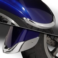 Cast Front Fender Tips; 2-Piece Set for Yamaha® XVS1300A/AT