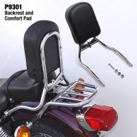 Paladin® Back Rest for Yamaha® XV250 Virago/XVS250 V Star