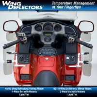 Wing Deflectors™; Fairing Mount for GL1800 Airbag Equipped Models