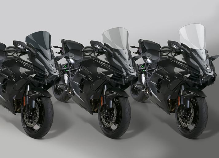 New VStream® Windscreens for 2018 Kawasaki® H2 SX/SX SE