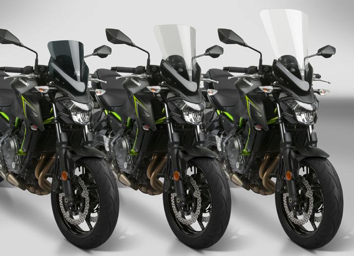 New VStream+® Windscreens for the 2017-19 Kawasaki® Z650