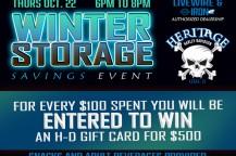 Heritage H-D Winter Storage Savings Event