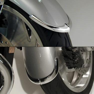 Cast Front Fender Tips; 2-Piece Set for Honda® VTX1300C
