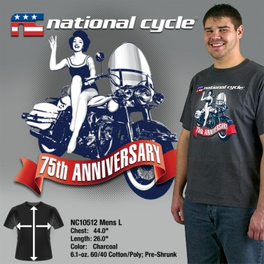 75th Anniversary T-Shirt; Mens L