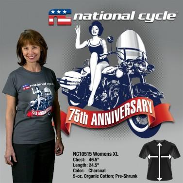 75th Anniversary T-Shirt; Womens XL