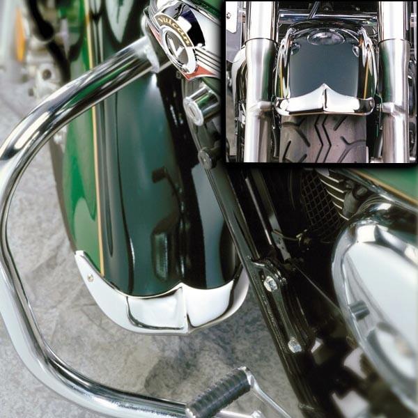 Cast Front Fender Tips; 2-Piece Set for Suzuki® VL1500LC Intruder