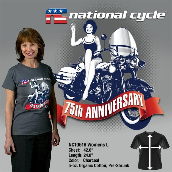 75th Anniversary T-Shirt; Womens L