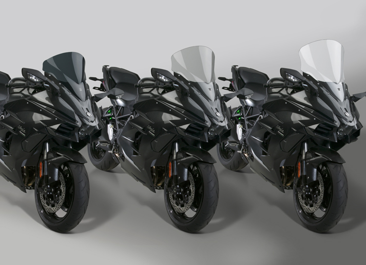 New VStream® Windscreens for 2018 Kawasaki® H2 SX/SX SE