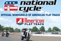 National Cycle is the Official Windshield of American Flat Track