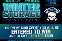 Heritage H-D Winter Storage Savings Event